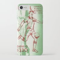 soccer iPhone & iPod Cases featuring Soccer king by Irène Sneddon