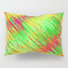 green red yellow geometric graffiti painting texture abstract background Pillow Sham