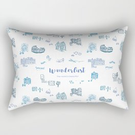 Wanderlust in Europe Rectangular Pillow
