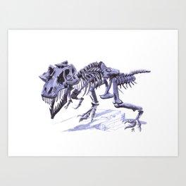 T-Rex Bones (Sue at the Field) Art Print
