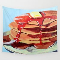 cake Wall Tapestries featuring PAN CAKE CAKE CAKE CAKES by YELLOW CAKE AND ICE CREAM