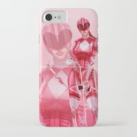 power ranger iPhone & iPod Cases featuring Pink Ranger by Isaiah K. Stephens