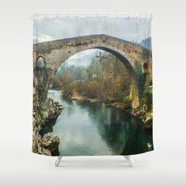 Asturias Roman Bridge Shower Curtain
