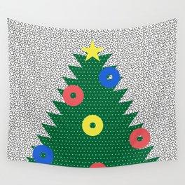 Memphis Christmas Tree Wall Tapestry