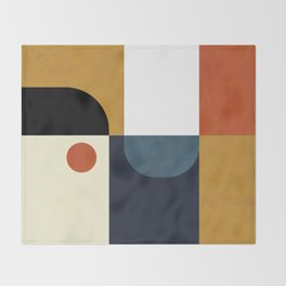 mid century abstract shapes fall winter 4 Throw Blanket