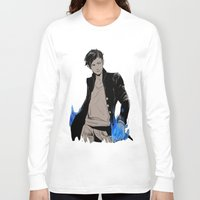 bane Long Sleeve T-shirts featuring Magnus Bane by The Radioactive Peach