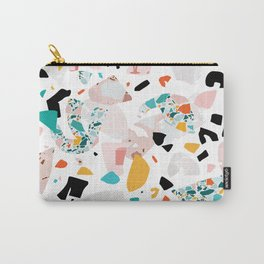Mixed Mess I. / Collage, Terrazzo, Colorful Carry-All Pouch