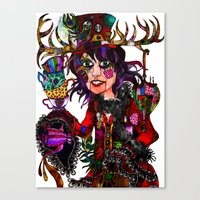 mad hatter Canvas Prints featuring Mad Hatter  by Holly wilson