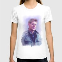 dean winchester T-shirts featuring Dean Winchester Pastel by Kaye Pyle