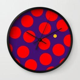 yellow dots 02 Wall Clock
