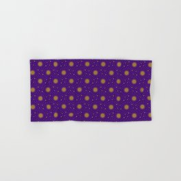 Astrological Purple Stars and Sun Hand & Bath Towel
