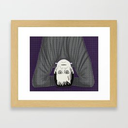 Frankenstein head stand Framed Art Print