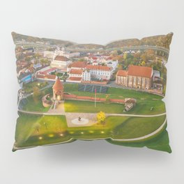 Kaunas old town, aerial view Pillow Sham