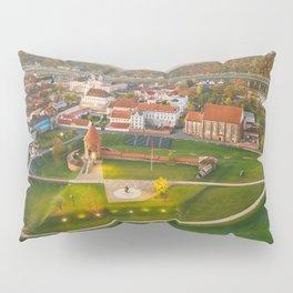 Kaunas old town, aerial view Pillow Sham