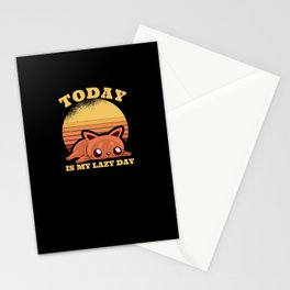 Social Distancing Cat Stationery Cards