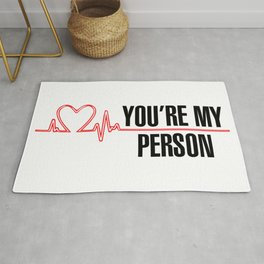 """Grey's Anatomy - """"You're My Person"""" Rug"""