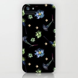 Carnations | Black iPhone Case