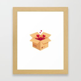 Love is in the air. Vector love box. Surprise box. Isometric box Framed Art Print