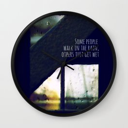 just another rainy day in paradise Wall Clock