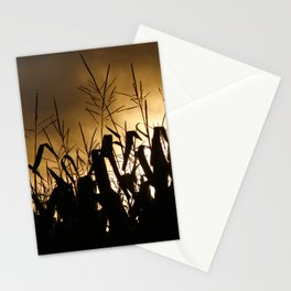 Corn field silhouettes Stationery Cards