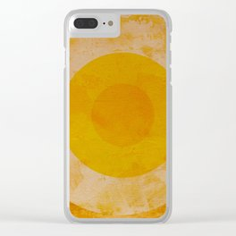 Yellow circle Clear iPhone Case
