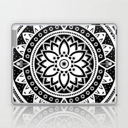 Black & White Patterned Flower Mandala Laptop & iPad Skin