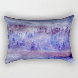 Misty Pine Forest Rectangular Pillow