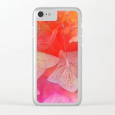Withered hydrangea Clear iPhone Case