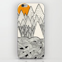 The forest over the tangled waves iPhone Skin