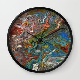 Abstract Oil Painting 13 Wall Clock