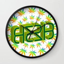 """HERB' (original invertible ambigram) Wall Clock"