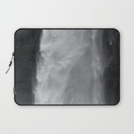 Her Waterfall (Black and White) Laptop Sleeve