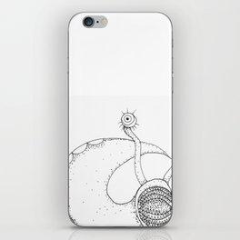 Angry slug iPhone Skin