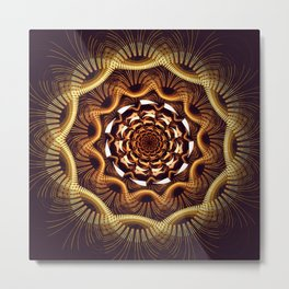Golden curves and tribal patterns Metal Print