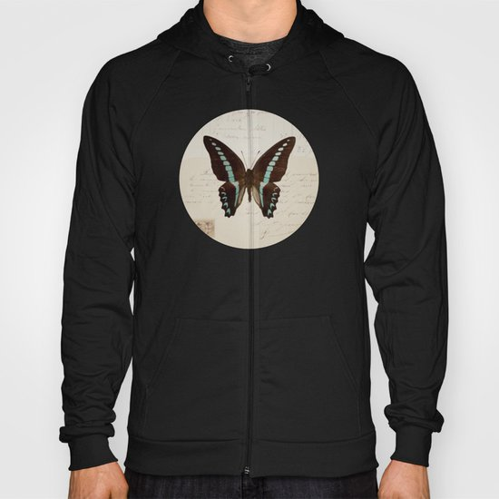 blue spotted butterfly Hoody