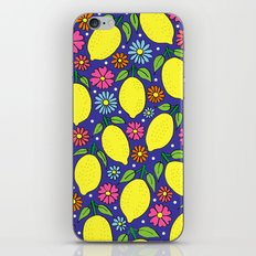 Lemons & Flowers iPhone & iPod Skin