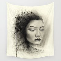 lorde Wall Tapestries featuring Lorde by Creadoorm