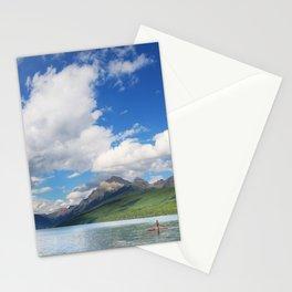 Paddleboarding in Glacier National Park Stationery Cards