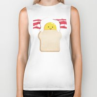 budi Biker Tanks featuring Morning Breakfast by Picomodi