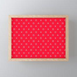 Red Gamer Pattern Framed Mini Art Print