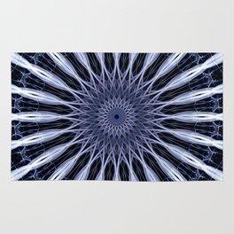 Mandala in violet and white tones Rug