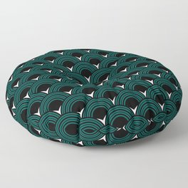 Art Deco Shell Print Floor Pillow
