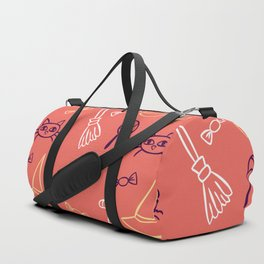 Happy halloween cats, lollipops, hats, brooms and candies pattern Duffle Bag