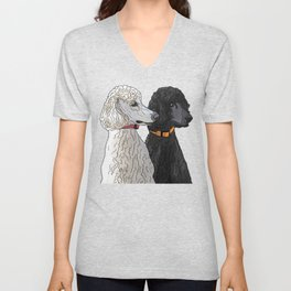 Pair of Poodles Unisex V-Neck