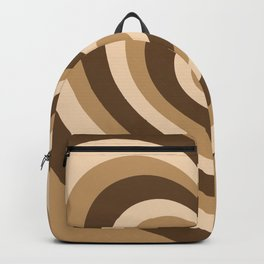 Aesthetic Brown Hearts Backpack