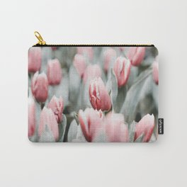 Frosted Tulips Carry-All Pouch
