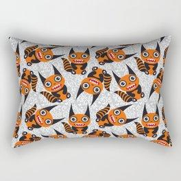 Funny orange monster Rectangular Pillow