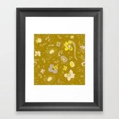 large flowers - mustards Framed Art Print