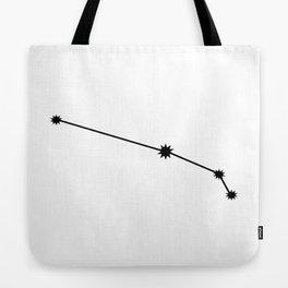 Aries Star Sign Black & White Tote Bag