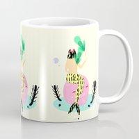 mermaid Mugs featuring mermaid by Alba Blázquez